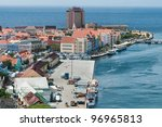 Colorful buildings of Willemstad, Curacao, Netherlands Antilles - stock photo