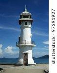 Beautiful lighthouse on Koh Chang island, Thailand - stock photo