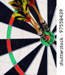 Dartboard wide - stock photo