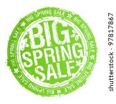 Big spring sale rubber stamp. - stock vector