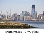 """""""Freedom Tower View"""" A new view of lower Manhattan with The Freedom Tower under construction. - stock photo"""