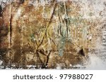 picture of grunge background texture from wrinkled fabric - stock photo