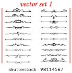 vector set 1: calligraphic design elements and page decoration - lots elements to embellish your layout - stock vector
