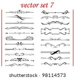 vector set 7: calligraphic design elements and page decoration - lots elements to embellish your layout - stock vector