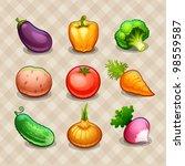 Set of vegetables - stock vector