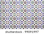 Andalusian tiles of a house - stock photo