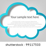 Poster template. Blue cloud - stock vector