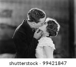 Couple kissing passionately - stock photo
