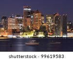 Financial District of Boston - stock photo