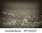 vintage  cracked wall - stock photo