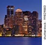Financial District of Boston, Massachusetts - stock photo