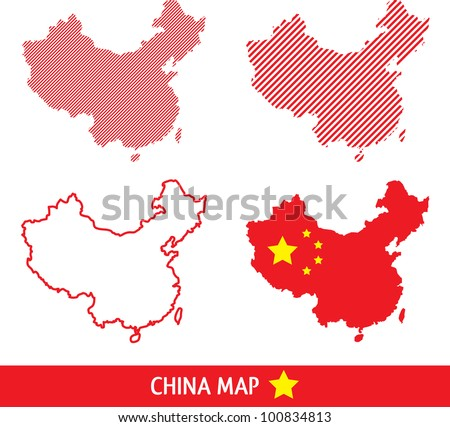 abstract vector china map in