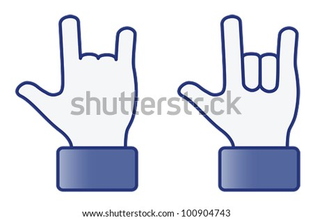 hand symbol   love 2d  vector