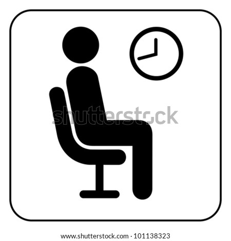 waiting symbol  vector