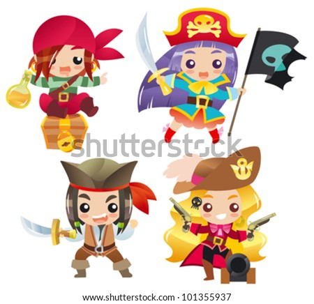 cartoon pirates set 1