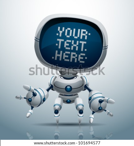 vector banner robot 11