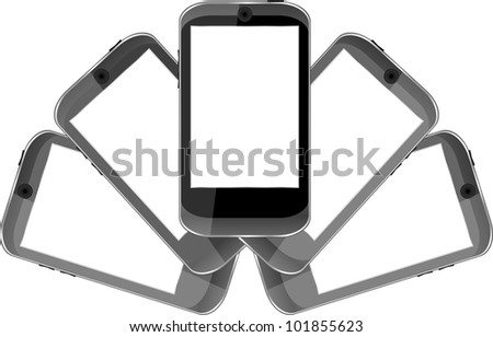 vector smart phones set