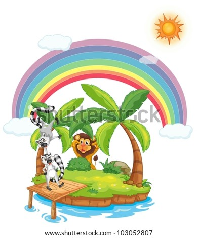 illustration of animals on an