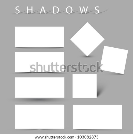 set of vector shadow effects