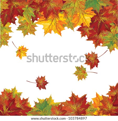 vector of autumn  colorful