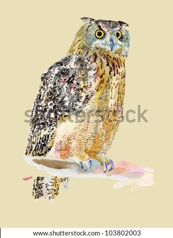 original watercolor painting of