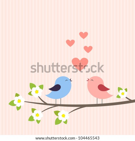 couple of birds in love