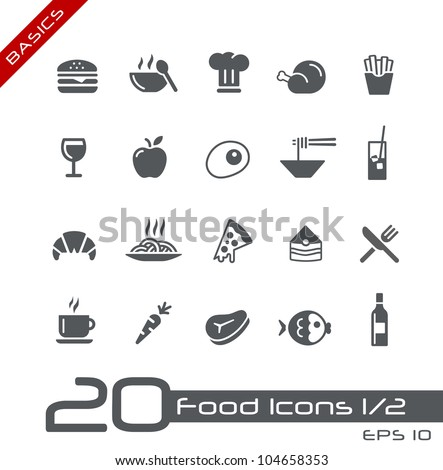 food icons   set 1 of 2