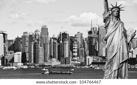 New york city skyline black and white free stock photos download