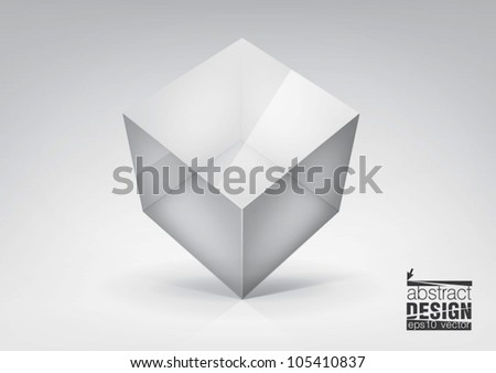 vector  transparent cube for