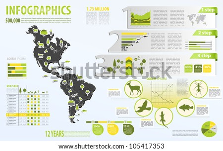 eco info graphic vector with