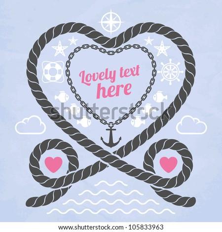 valentine in marine style