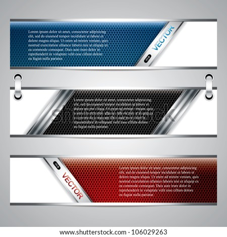 banners  metallic set  modern