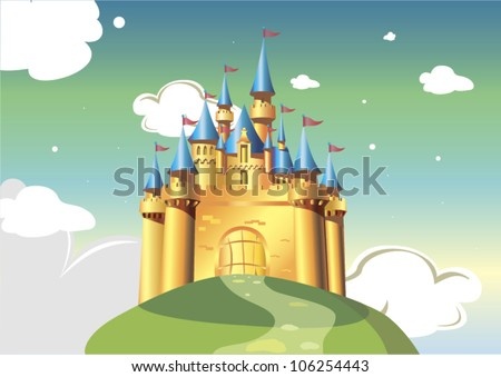 cartoon castle vector