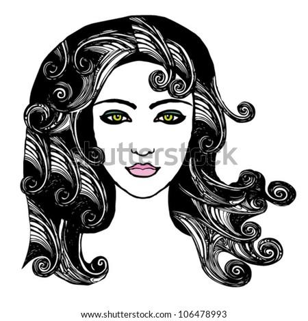 curly hair beauty