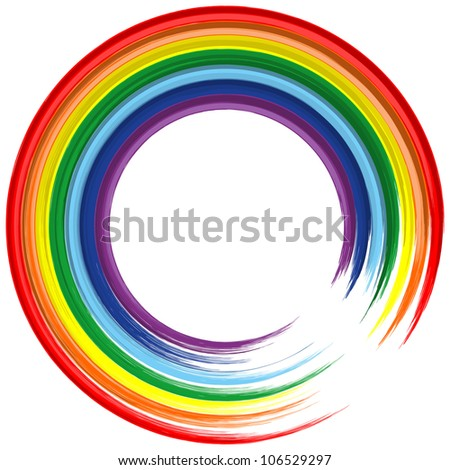 art rainbow frame abstract