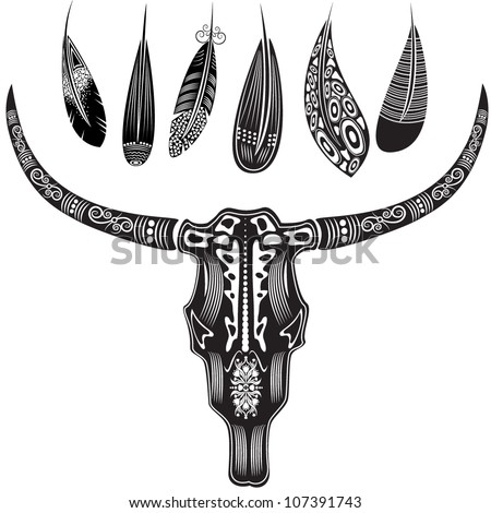 vector illustration of a bull's