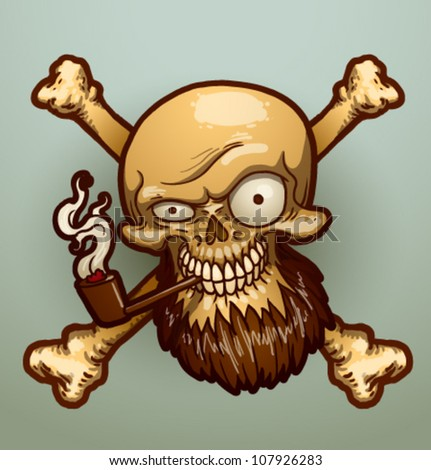 pirate skull  vector 01