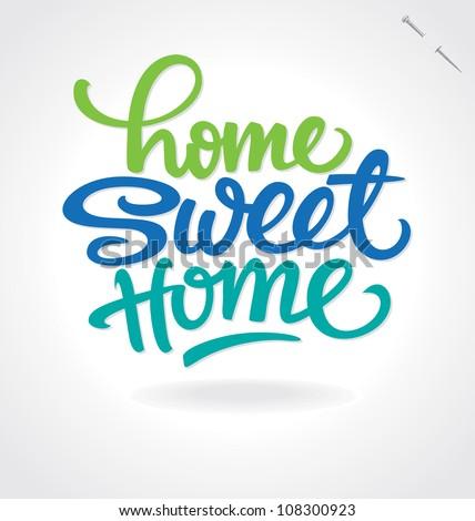 'home sweet home' hand