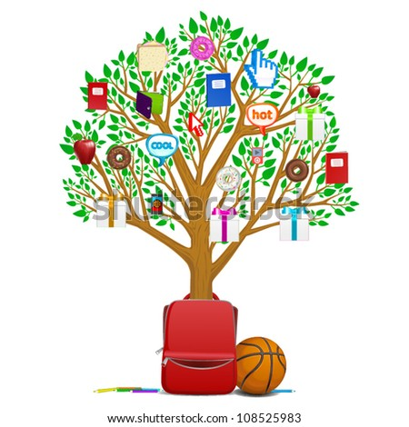 back to school tree  basketball