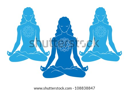 women of yoga with heart chakra