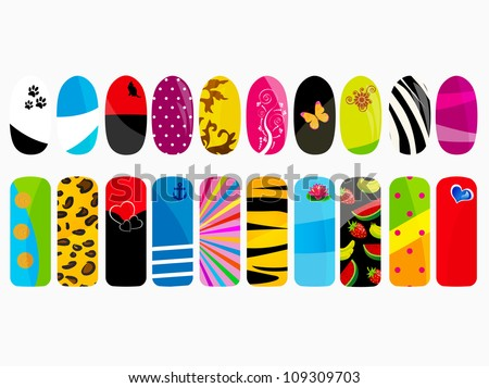 Art nails Free Vector / 4Vector