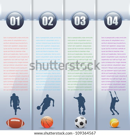 vector sports background number