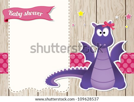 cute baby girl dragon character