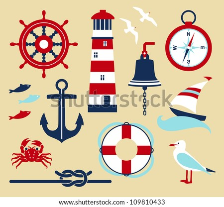 nautical elements in cartoon