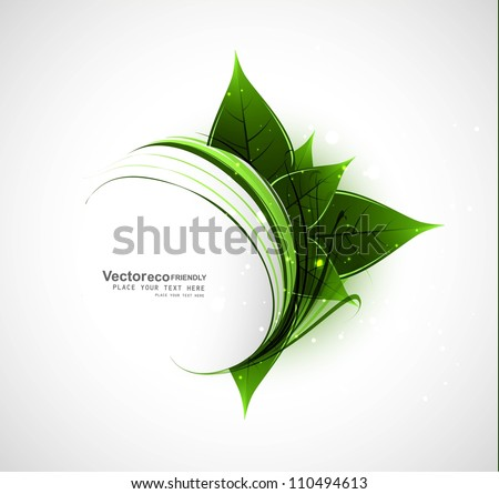 abstract vector natural eco
