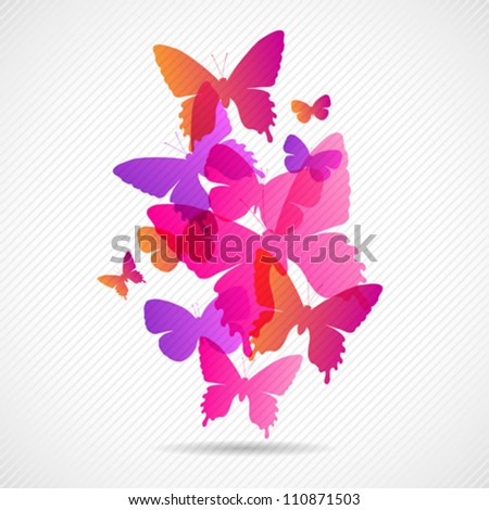 vector butterflies background