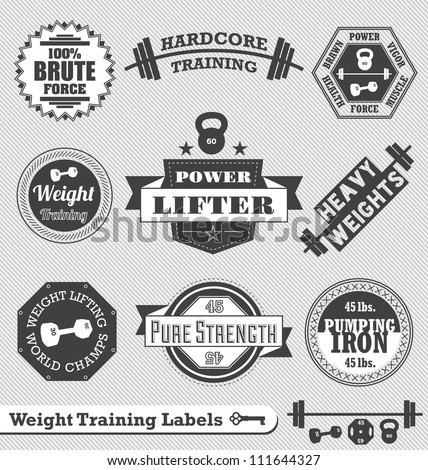 vector set  vintage weight