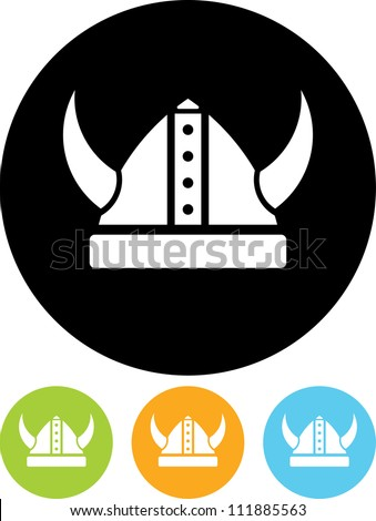 viking hat   vector icon