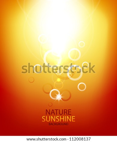 abstract vector sunshine
