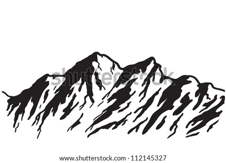 mountain range isolated on